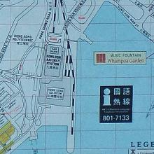 Map of Hung Hom Bay about 1990