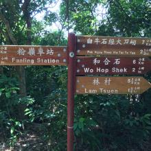 Signpost on Wu Tip Shan Trail