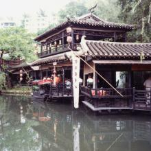 Sung Dynasty village 'riverside' stalls