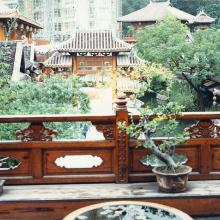 Sung Dynasty village street from rich man's house