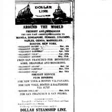 Hongkong Telegraph Newspaper- Shipping - Dollar Line -Feb.1924