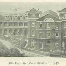 St. John's Hall in 1947 (after reconstruction from WWII)