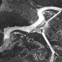 This aerial view gives an idea of the complicated drainage system where Route Twisk crosses ravines