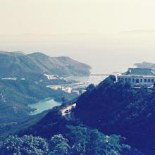 View to the south from Mount Gough Hong Kong c1972 showing 1 Gough Hill Road.JPG