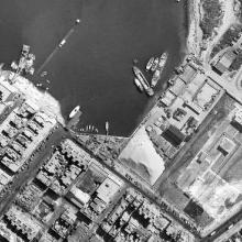 Gillies Ave pier aerial view 1963