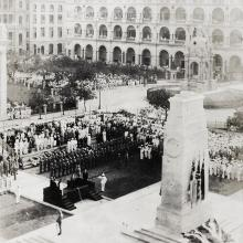 Unveiling of the Cenotaph, Statue Square, Hong Kong (香港) (2)