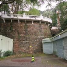 Retaining wall below Victoria House