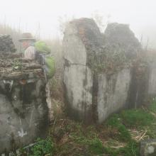 Site A: ruin with thick walls