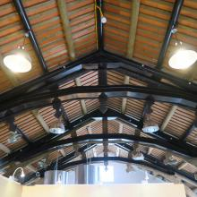 """Ceiling in the """"First Examination Site"""" building"""