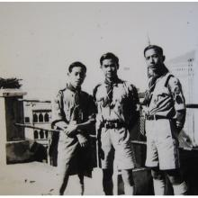 15HKG Scouts posing in front of building