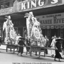 Hong Kong, flowers in a funeral procession