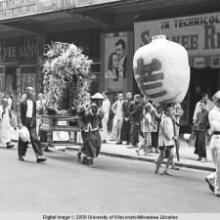 Hong Kong, flower arrangement surrounding image of the deceased in a funeral procession