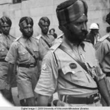 Hong Kong, soldiers of the British Indian Army